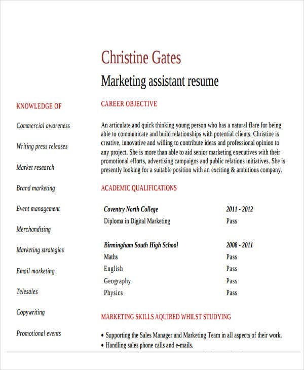 48  simple marketing resumes