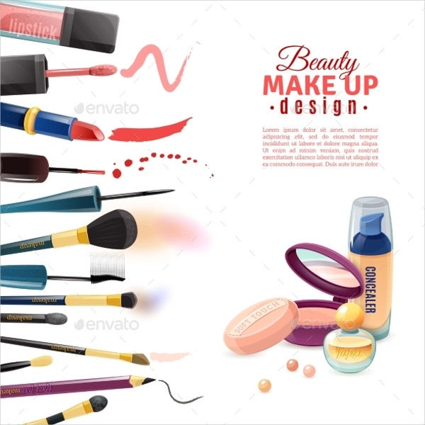 Cosmetic Product Advertising Poster