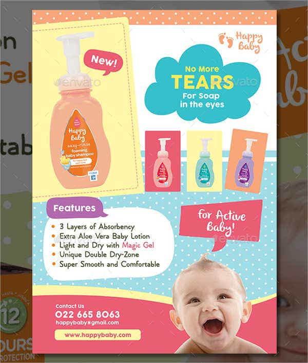 Baby Product Advertising Poster
