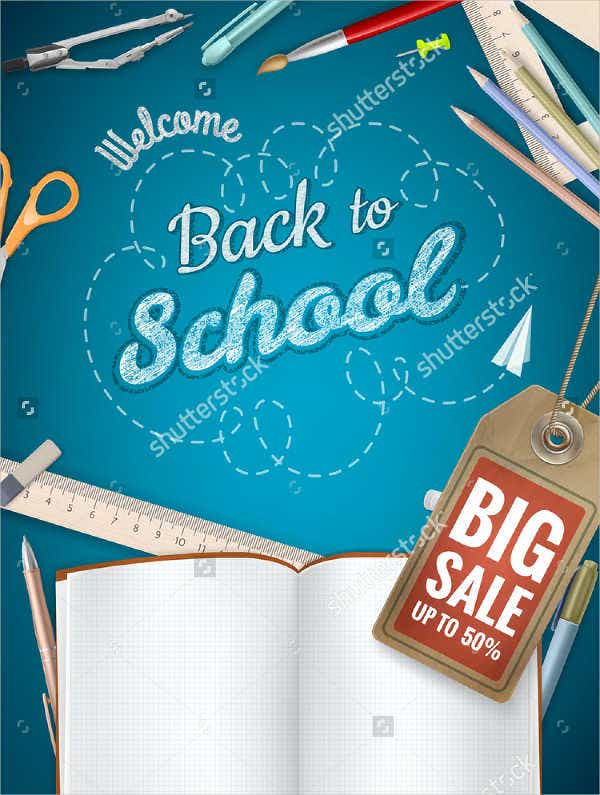 Back to School Advertising Poster