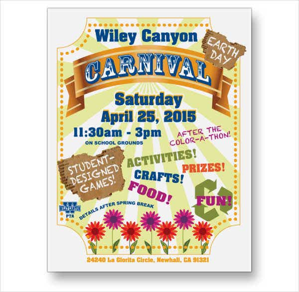 School Carnival Advertising Poster