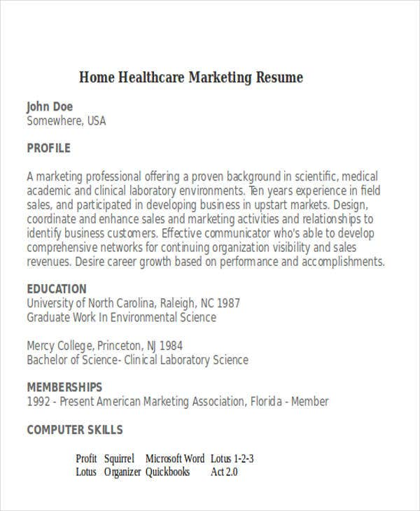 30 Simple Marketing Resume Templates Pdf Doc Free