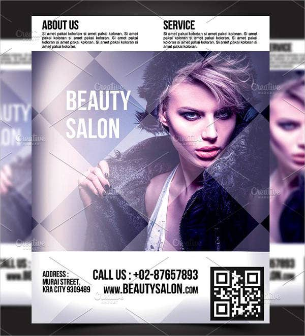 Beauty Salon Advertising Poster