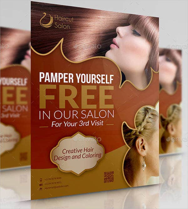 Hair Salon Advertising Poster
