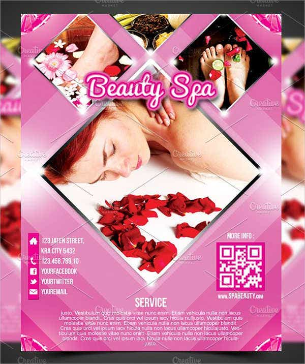 Spa and Salon Advertising Poster