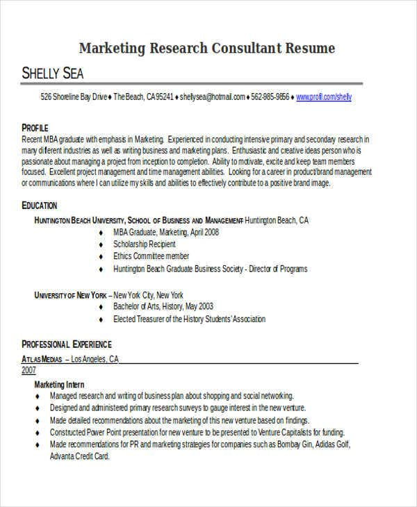 marketing research consultant resume3