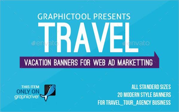 vintage travel banner