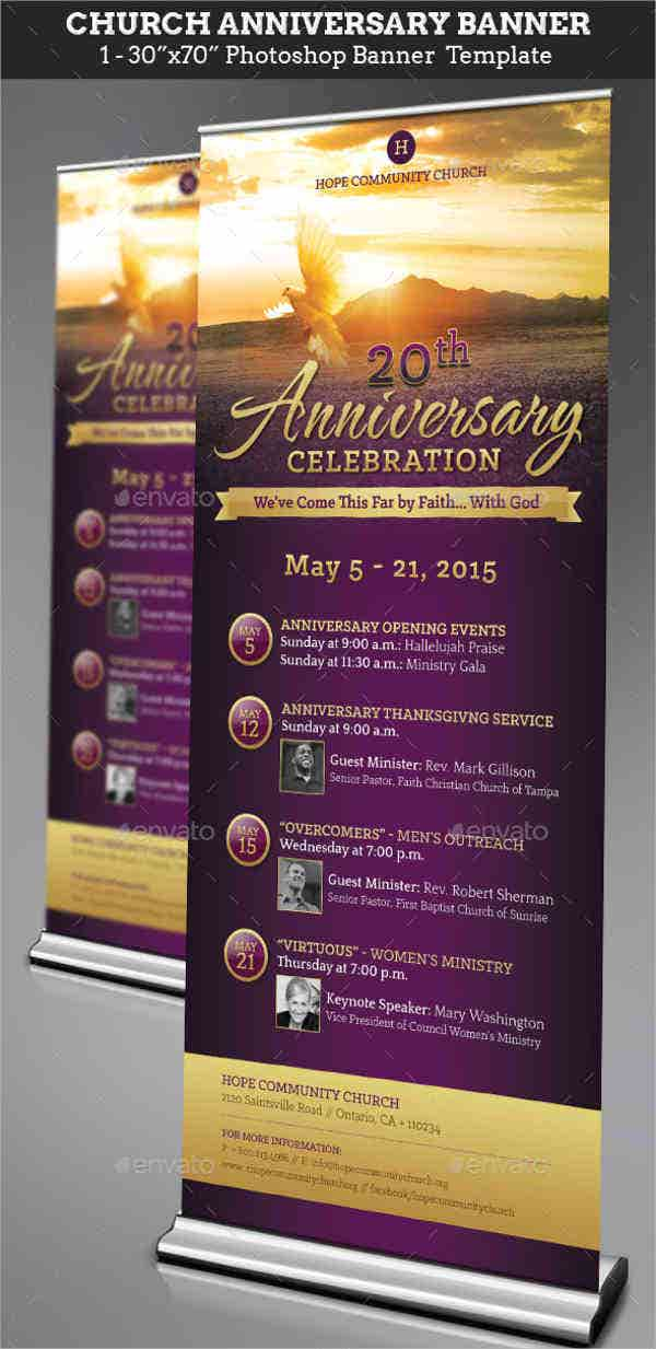 church anniversary banner