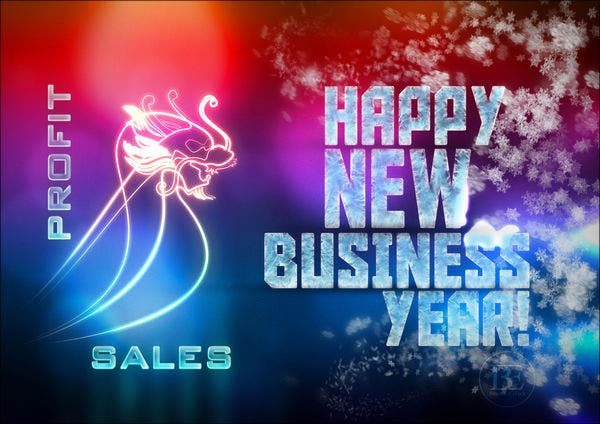 business-new-year-greeting-card