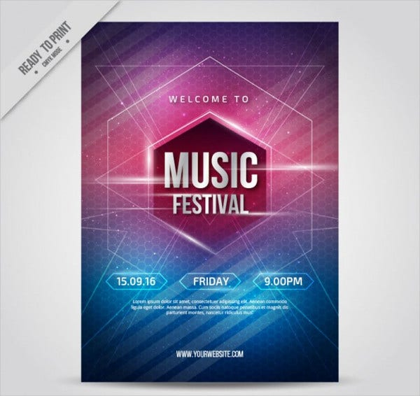 music festival event poster1