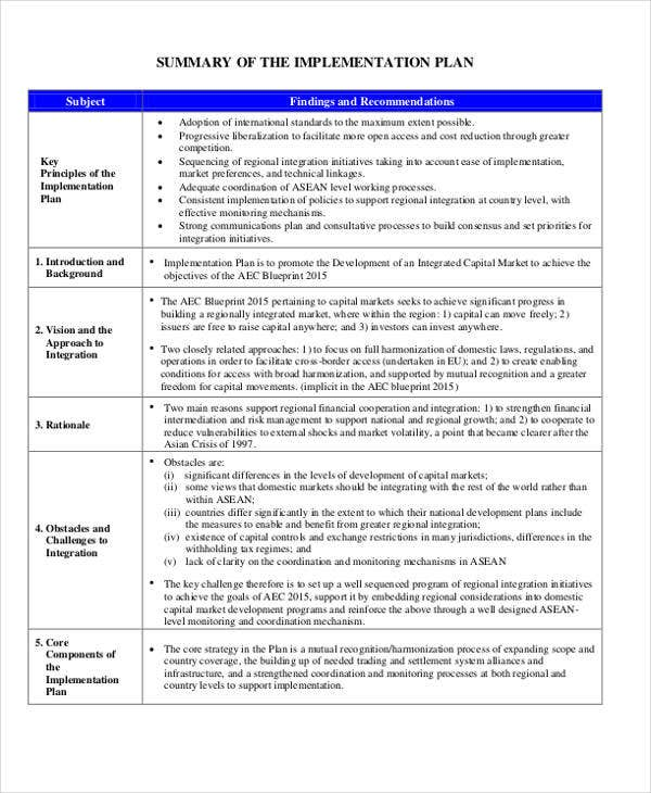 policy implementation plan template - 40 strategic plan templates free premium templates