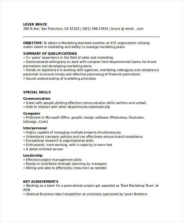 marketing executive assistant resume10