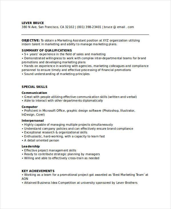 free marketing resume templates 27 free word pdf
