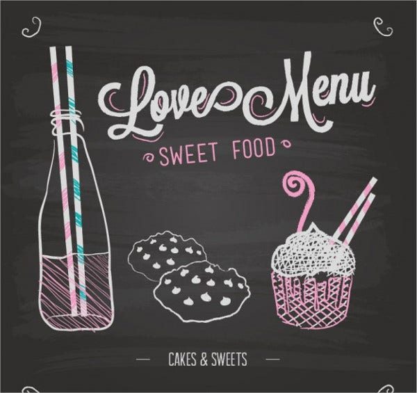 40 Chalkboard Menu Design