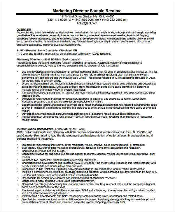 senior marketing director resume4