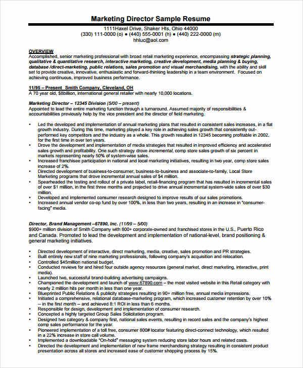 free marketing resume templates 26 free word pdf