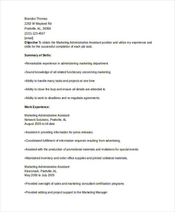 Free Marketing Resume Templates - 27+ Free Word, Pdf Documents