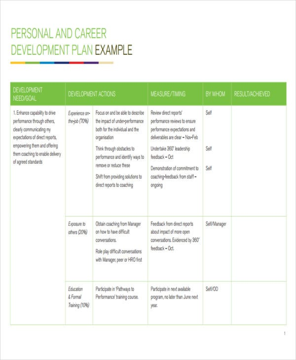 Development Plan Templates  Free  Premium Templates