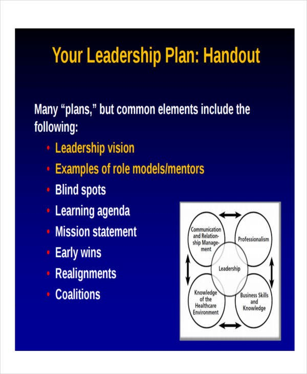 individual leadership development plan