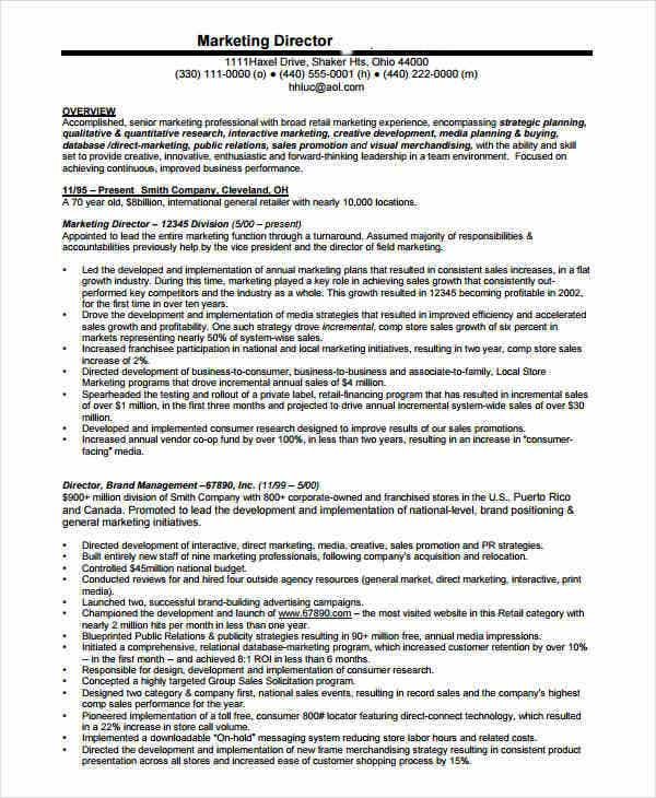 senior-marketing-director-resume
