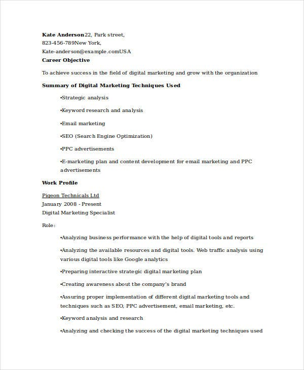 digital marketing executive resume9