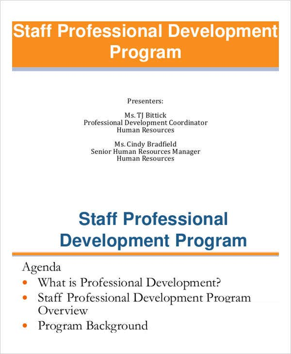 staff professional development plan