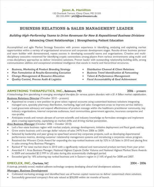 sales and marketing manager resume10