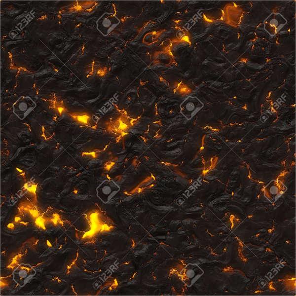 Volcanic Hot Rock Texture