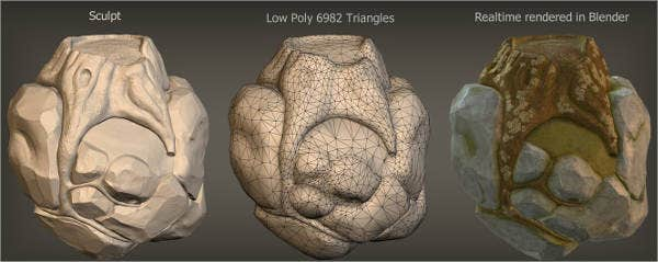 Blender Sculpt Rock Texture