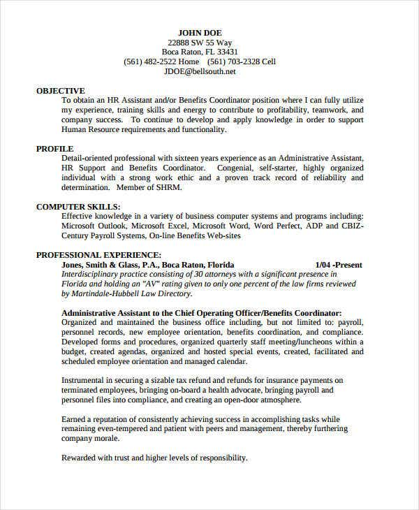 administrative executive resume in pdf1