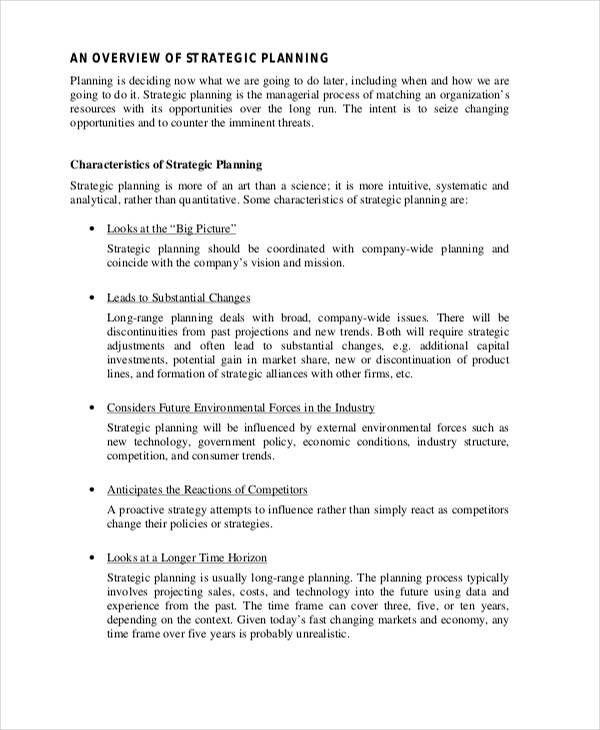 company marketing strategic plan