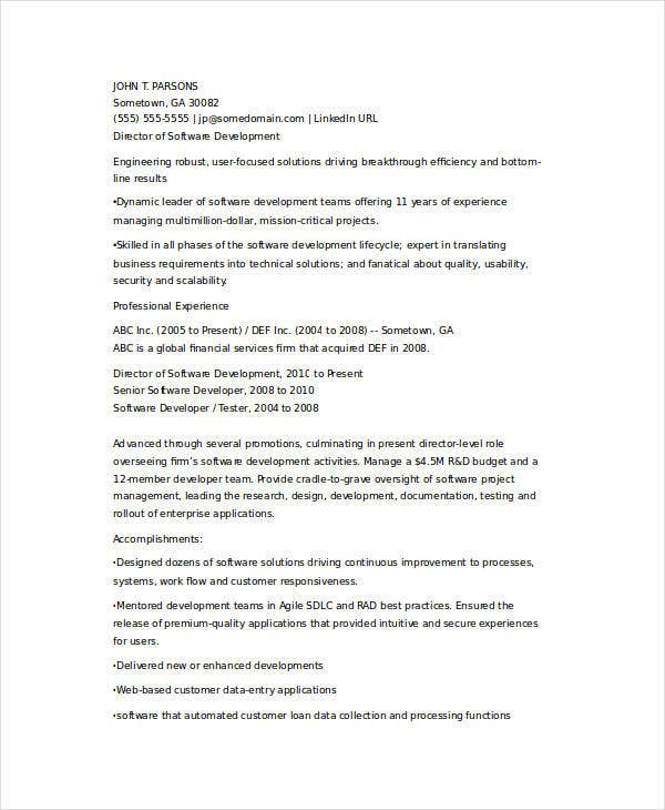 senior it developer resume3