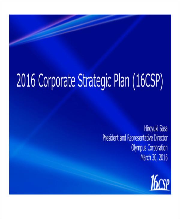 corporate development strategic plan