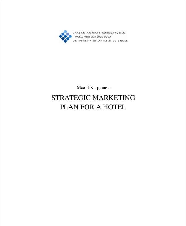 hotel strategic marketing plan2