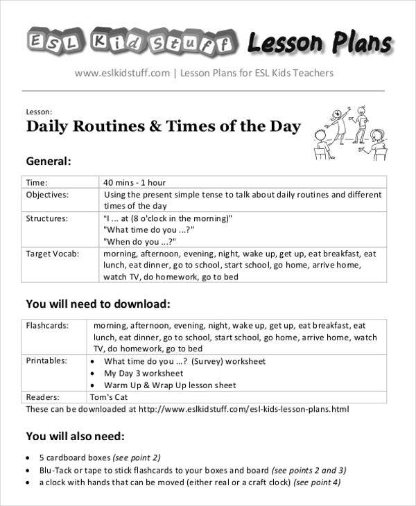 40 lesson plan templates free premium templates daily routine lesson plan saigontimesfo