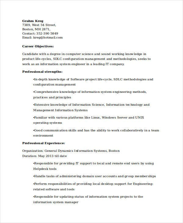 it system engineer resume3