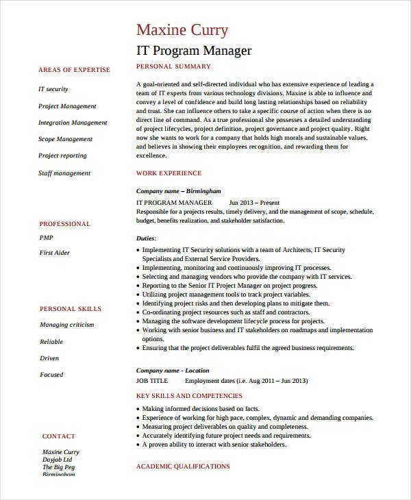 professional cv templates free download word document