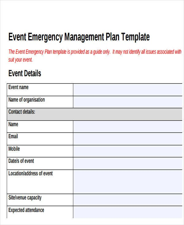 19 event plan templates in pdf free premium templates for Sample crisis management plan template