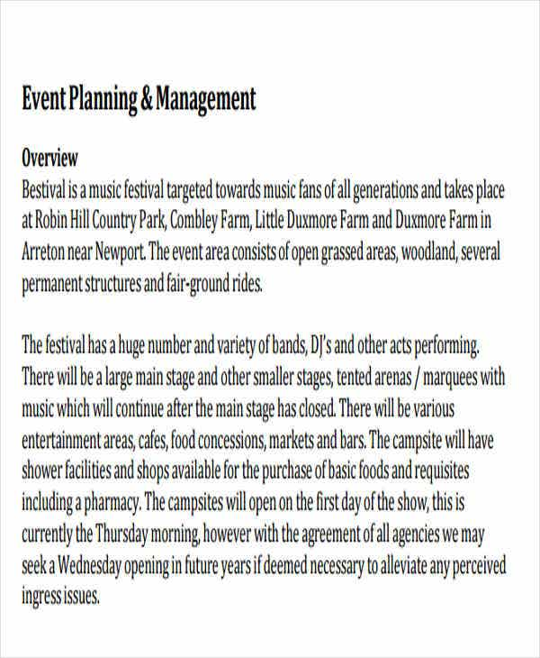 event operations management plan