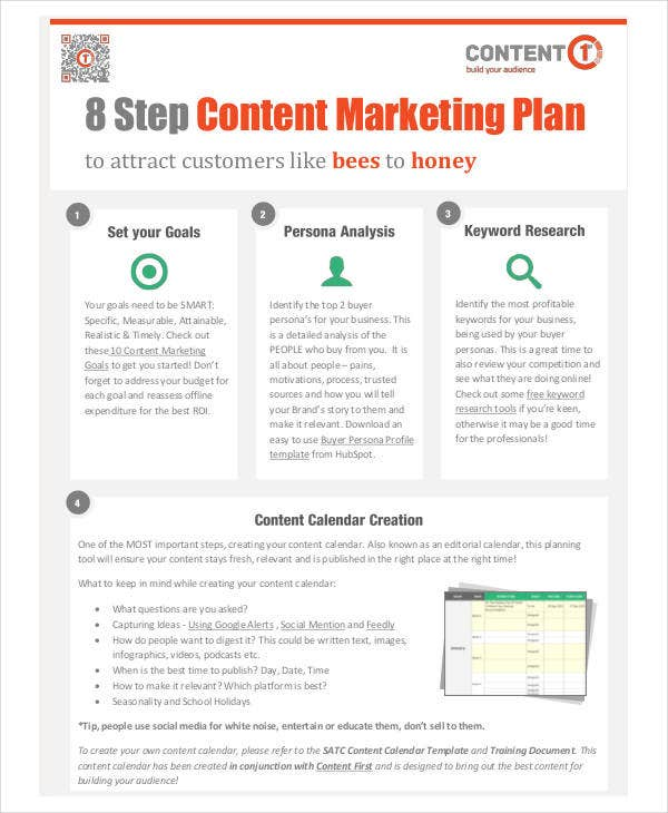 free content marketing plan