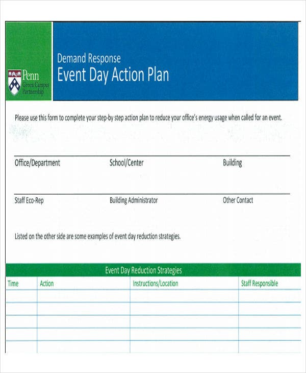event day action plan