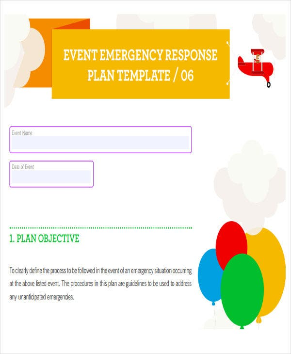 19 event plan templates in pdf free premium templates for Emergency response plan template for small business