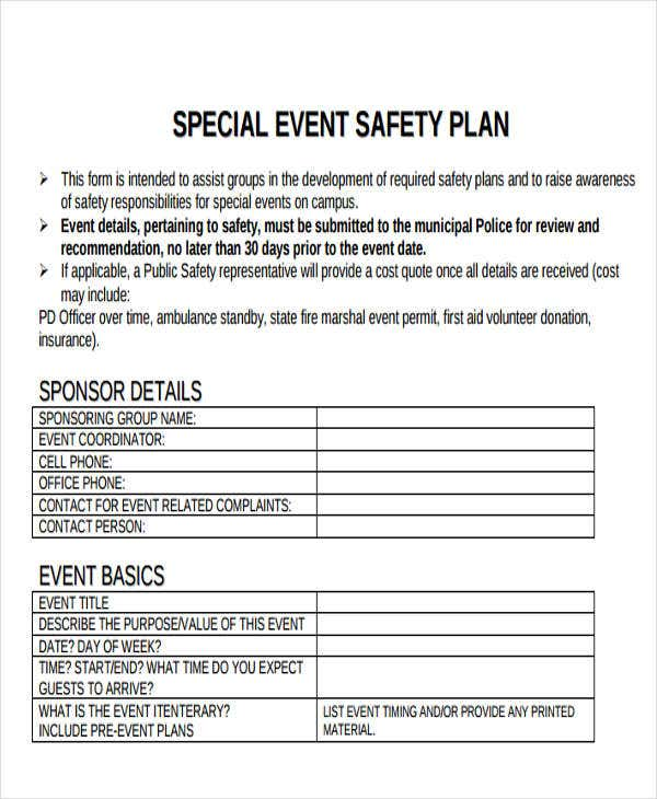 event safety plan template 19 event plan templates in pdf free premium templates