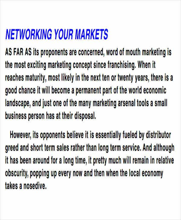 network marketing business plan