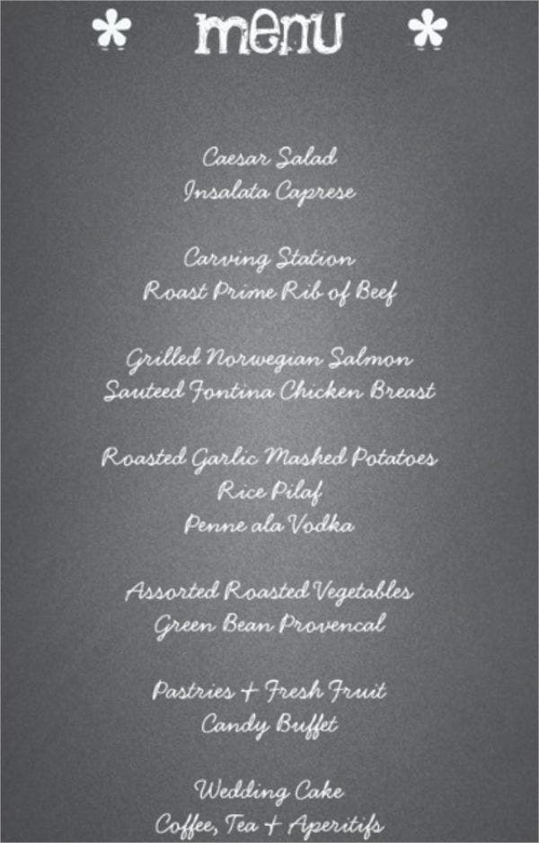 41 wedding menu sample designs templates psd ai vector eps
