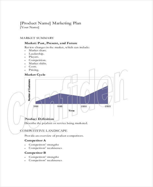 music marketing plan template pdf