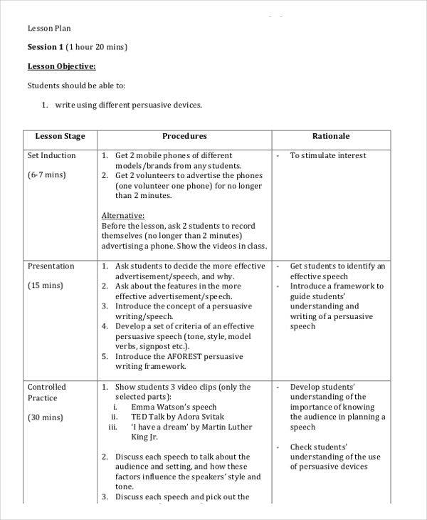 Lesson Plan Templates In Pdf  Free  Premium Templates