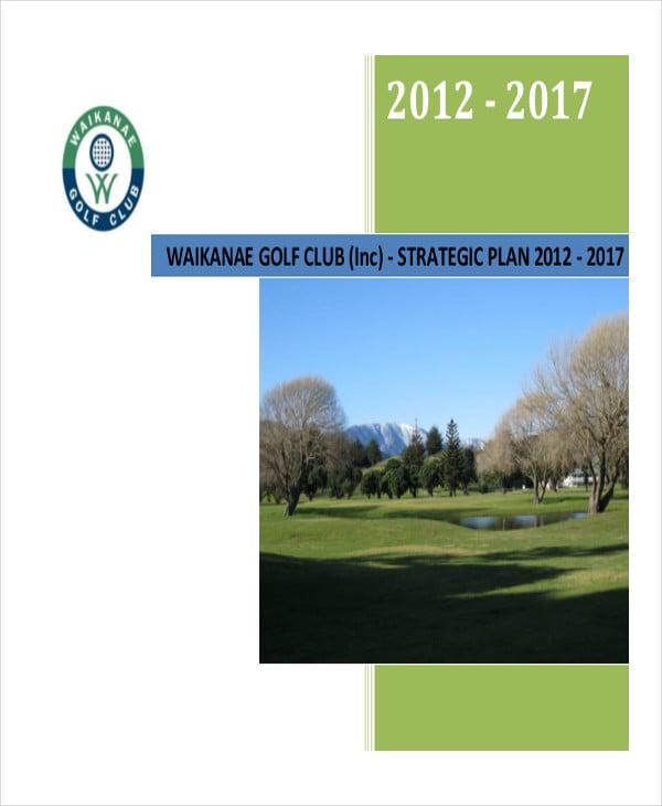 golf club strategic marketing plan