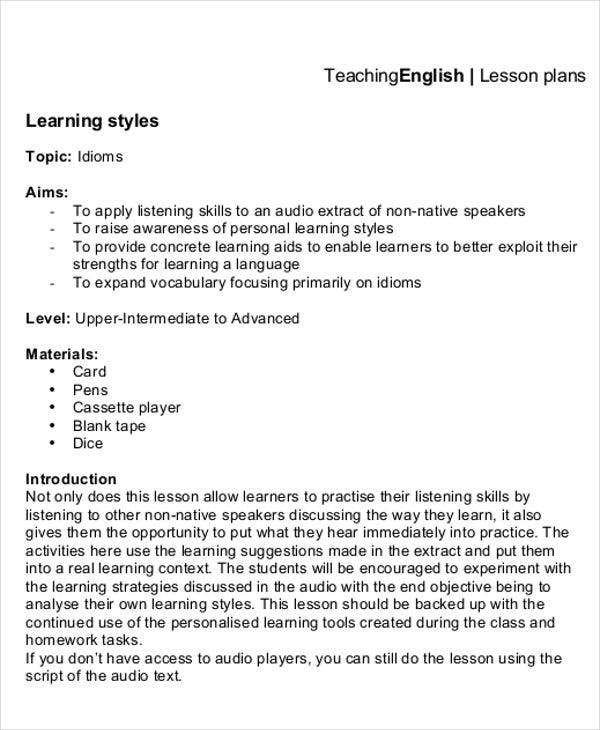 40 Lesson Plan Templates In Pdf Free Premium Templates