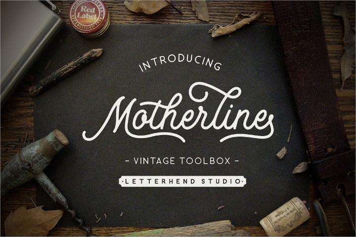 motherline vintage font